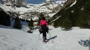 Raquetas de nieve en Huesca